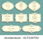 set of vector labels  cutout... | Shutterstock .eps vector #417134743