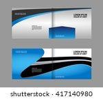 bi fold brochure template... | Shutterstock .eps vector #417140980
