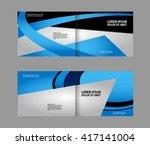 corporate bi fold brochure... | Shutterstock .eps vector #417141004