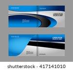 brochure template  | Shutterstock .eps vector #417141010