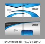 empty bi fold brochure template ... | Shutterstock .eps vector #417141040