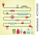 colorful vector pipeline ... | Shutterstock .eps vector #417141310