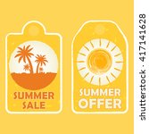 summer sale and offer labels... | Shutterstock .eps vector #417141628