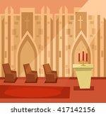 Empty Church Room Inside....