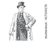 elegant proud man of the... | Shutterstock .eps vector #417143170