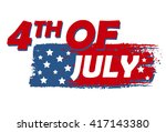 4th of july with stars over... | Shutterstock . vector #417143380