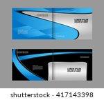 template for advertising... | Shutterstock .eps vector #417143398