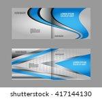 professional business flyer ... | Shutterstock .eps vector #417144130
