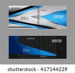 vector blue brochure template... | Shutterstock .eps vector #417144229