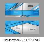 vector blue brochure template... | Shutterstock .eps vector #417144238