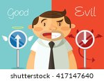 good and evil. vector flat... | Shutterstock .eps vector #417147640