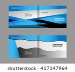 template for advertising blue... | Shutterstock .eps vector #417147964
