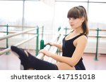 dancer is doing exercises in... | Shutterstock . vector #417151018