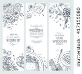 wedding party vertical banner.... | Shutterstock .eps vector #417155080