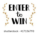 enter to win vector sign  win... | Shutterstock .eps vector #417156793