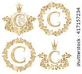 Golden Letter C Vintage...
