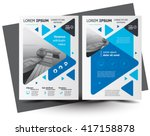 Flyer brochure design, business flyer size A4 template, creative leaflet, trend cover triangles | Shutterstock vector #417158878