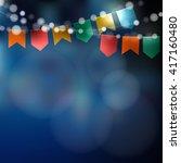 brazilian june party. festa...   Shutterstock .eps vector #417160480