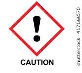 ghs hazard pictogram caution....   Shutterstock .eps vector #417166570