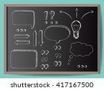 hand drawn vector arrows ... | Shutterstock .eps vector #417167500