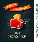 'if you want a guarantee'  ... | Shutterstock .eps vector #417168583