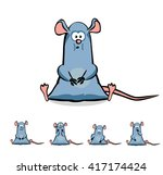 cute cartoon rat or mouse set.... | Shutterstock .eps vector #417174424