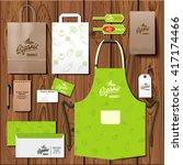 vector organic market corporate ... | Shutterstock .eps vector #417174466