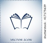 vector book icon | Shutterstock .eps vector #417175639