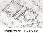 architecture blueprints   house ...   Shutterstock . vector #417177154