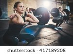 fit young woman lifting... | Shutterstock . vector #417189208