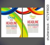 vector template design brochure ... | Shutterstock .eps vector #417195820