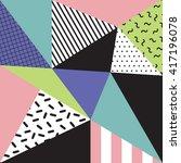 retro memphis style background  ... | Shutterstock .eps vector #417196078
