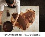 top view professional black... | Shutterstock . vector #417198058