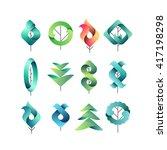 color gradient geometrical... | Shutterstock .eps vector #417198298