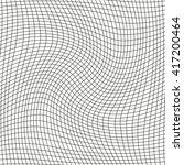 twisted black net on white... | Shutterstock .eps vector #417200464