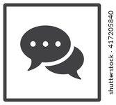 speech bubbles icon | Shutterstock .eps vector #417205840