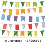 celebrate decoration banner.... | Shutterstock .eps vector #417206938
