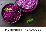 Shredded Red Cabbage In Clay...