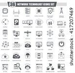 vector network technology black ... | Shutterstock .eps vector #417207469