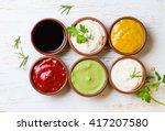 sauces ketchup  mustard ...   Shutterstock . vector #417207580