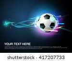 football shoot with sparkling... | Shutterstock .eps vector #417207733