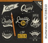retro vintage style premium... | Shutterstock .eps vector #417208210