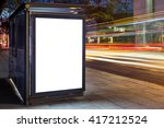 blank white mock up of vertical ... | Shutterstock . vector #417212524