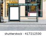 blank white mock up of vertical ... | Shutterstock . vector #417212530