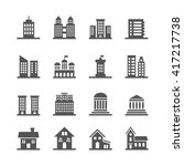 building  house vector icons.... | Shutterstock .eps vector #417217738