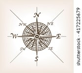 compass rose sketch style... | Shutterstock .eps vector #417225679