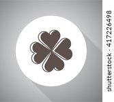 clover simple vector icon.... | Shutterstock .eps vector #417226498