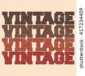 t shirt print design. vintage... | Shutterstock .eps vector #417234409