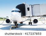 airplane ready for boarding in... | Shutterstock . vector #417237853