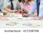 team job business concept  ... | Shutterstock . vector #417238708